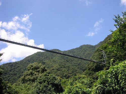 世界一高さを誇る歩行用つり橋